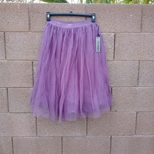 Purple Lilac Tulle Lined Skirt Size Large